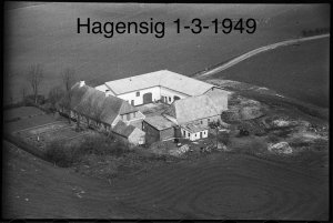 Gyldbjerggård, Hagensig 1-3 - 1949
